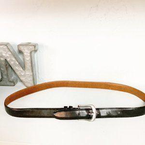 Coach Black Leather Distressed Belt English Bridle